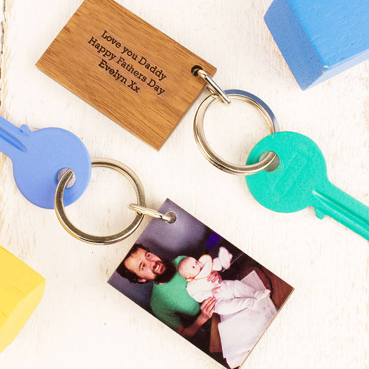 Personalised Wood & Acrylic Keyring - Made Lovingly Made on Not On The High Street