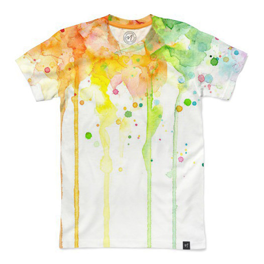 Watercolor Rainbow T-Shirt - Nuvanga